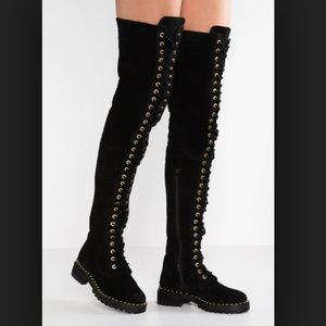 NWOB Jeffrey Campbell Thigh High Lace Up Boots